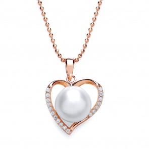 RGP Silver Pendant FWP/CZ Heart