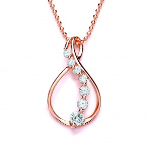 RGP Silver Pendant CZ Open Fancy