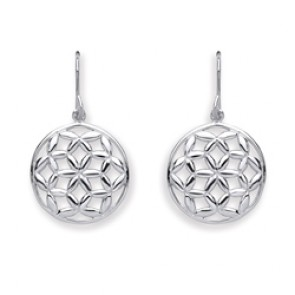 RP Silver Earrings HW Round Flower Drops