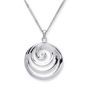 RP Silver Pendant Round Swirl