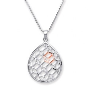 RP/RGP Silver Pendant Pear