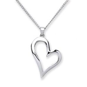 RP Silver Pendant Open Heart