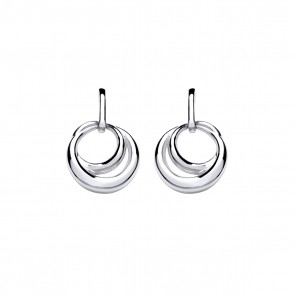 RP Silver Earrings FF Open Loop Drops