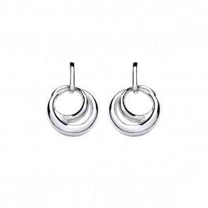 RP Silver Earrings FF Open Loop Drops