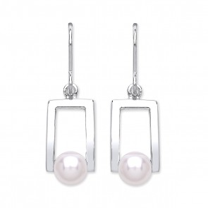 RP Silver Earrings HW FWP Open Drops