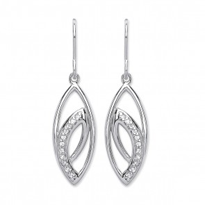 RP Silver Earrings HW CZ Fancy Drops