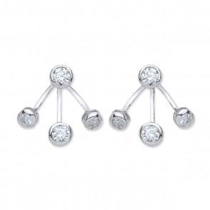 RP Silver Earrings FF CZ Enhancer